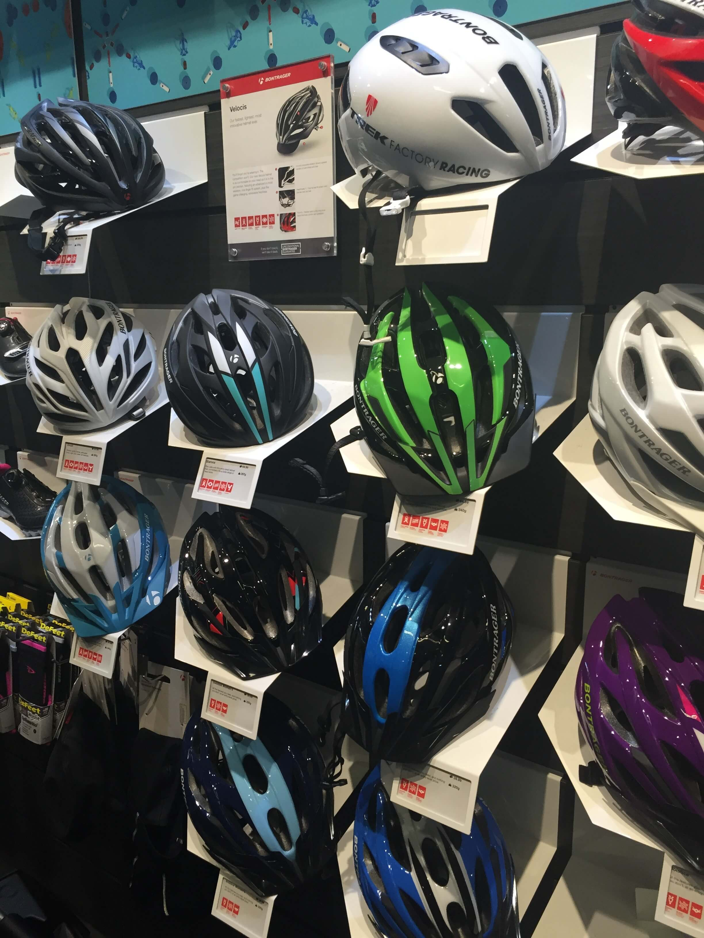 Stay safe and protected with a helmet from the Bike Line.