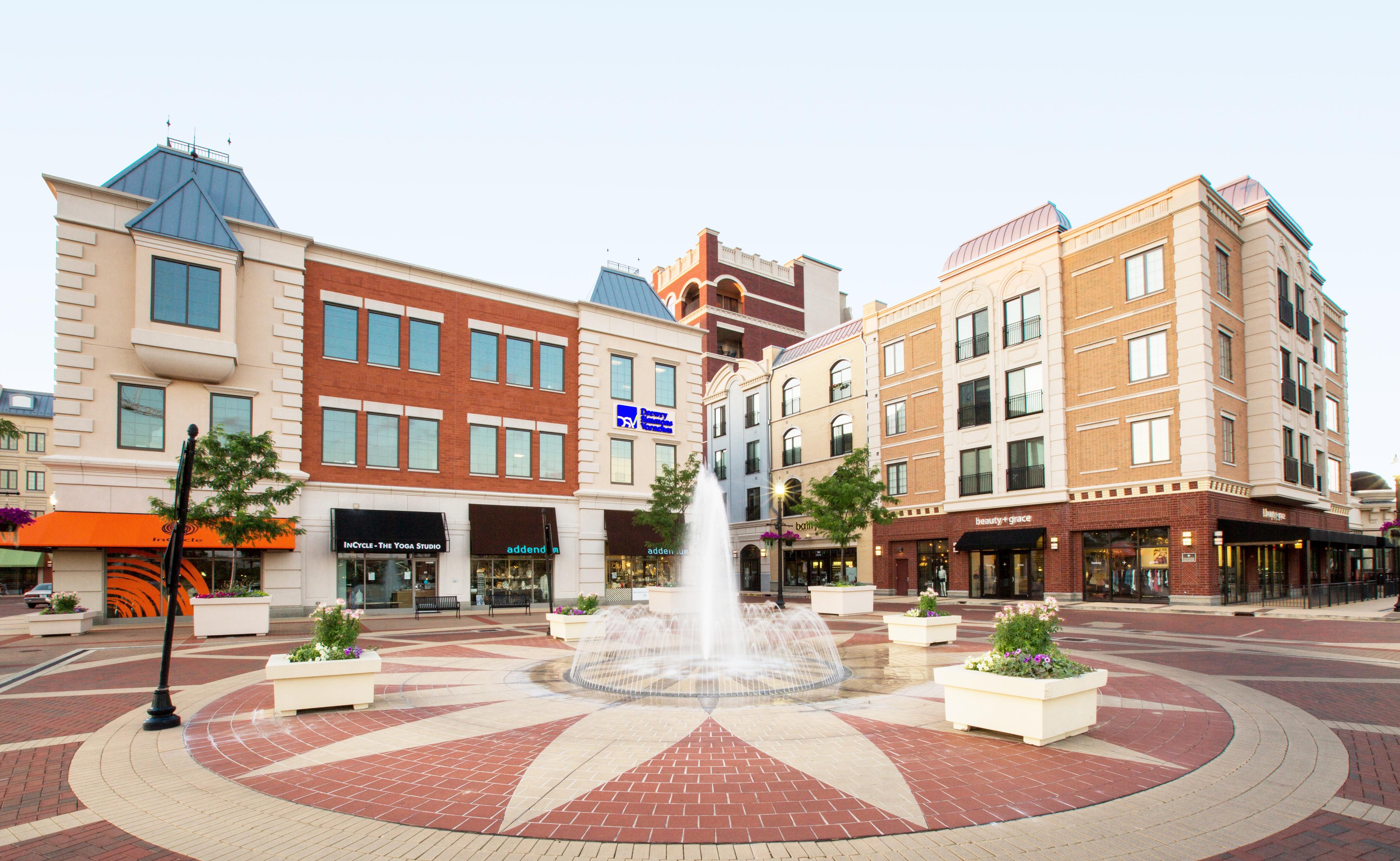 Carmel City Center interior plaza