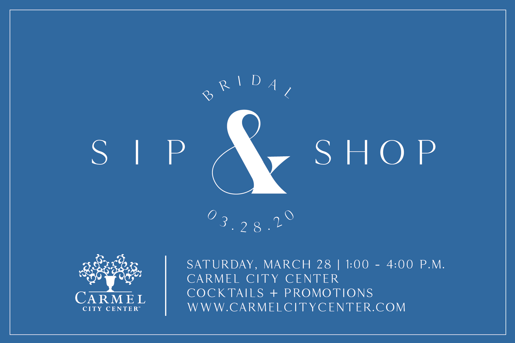 POSTPONED: Bridal Sip & Shop at Carmel City Center