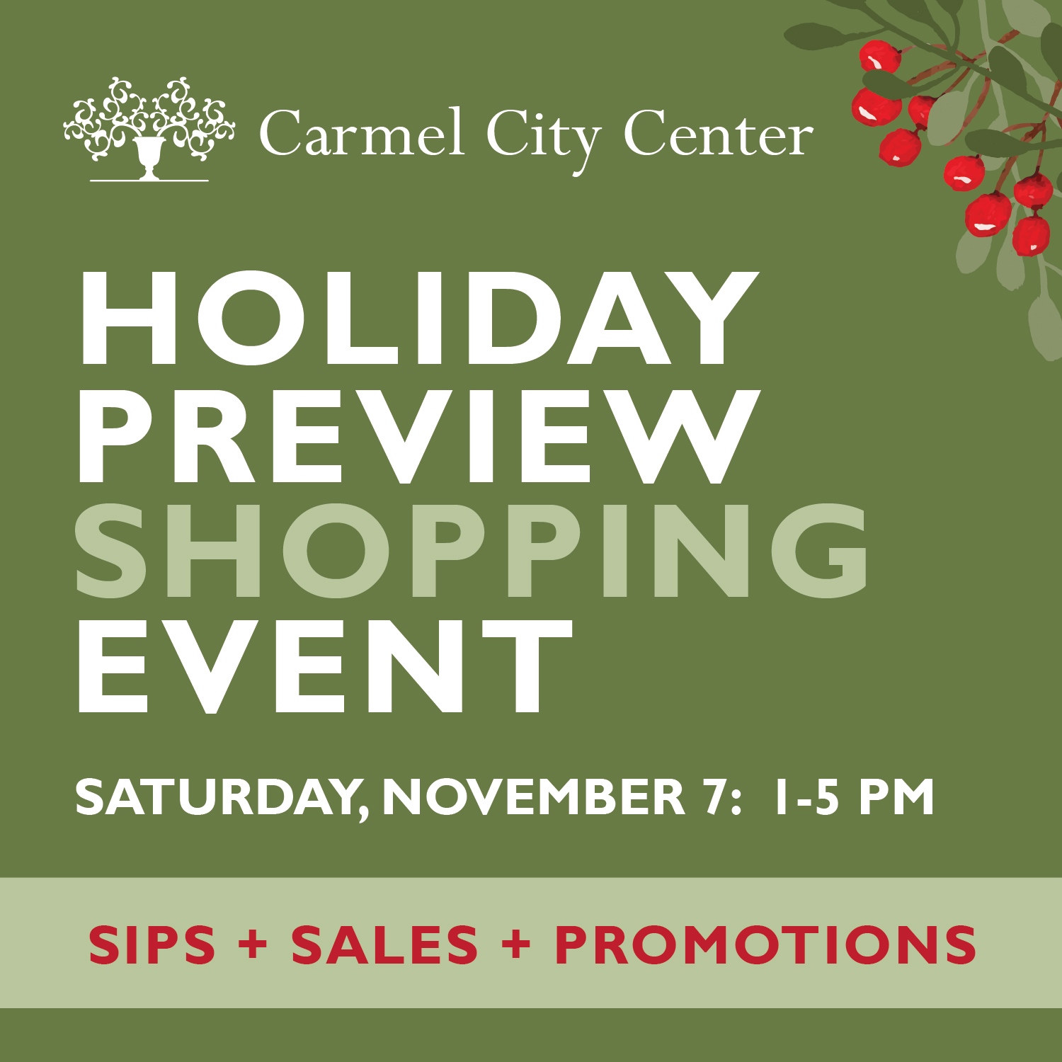 Holiday Preview Shopping Event